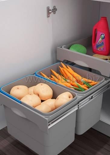 Наполнение кухонных шкафов: системы хранения на кухне | купить в Кемерово - «Экомебель», фотография №15