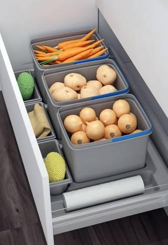 Наполнение кухонных шкафов: системы хранения на кухне | купить в Апрелевке - «Экомебель», фотография №12