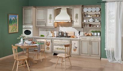 купить кухни в стиле прованс из массива дерева